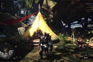 [MHW]古代樹の森のキャンプ設営場所はここ!キャンプの増やし方!